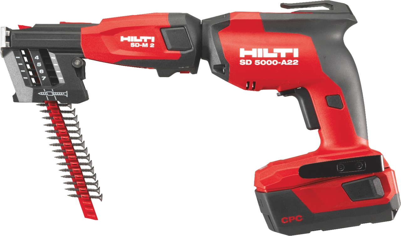 2D Image of the Hilti SD 5000-A22 cordless drywall screwgun