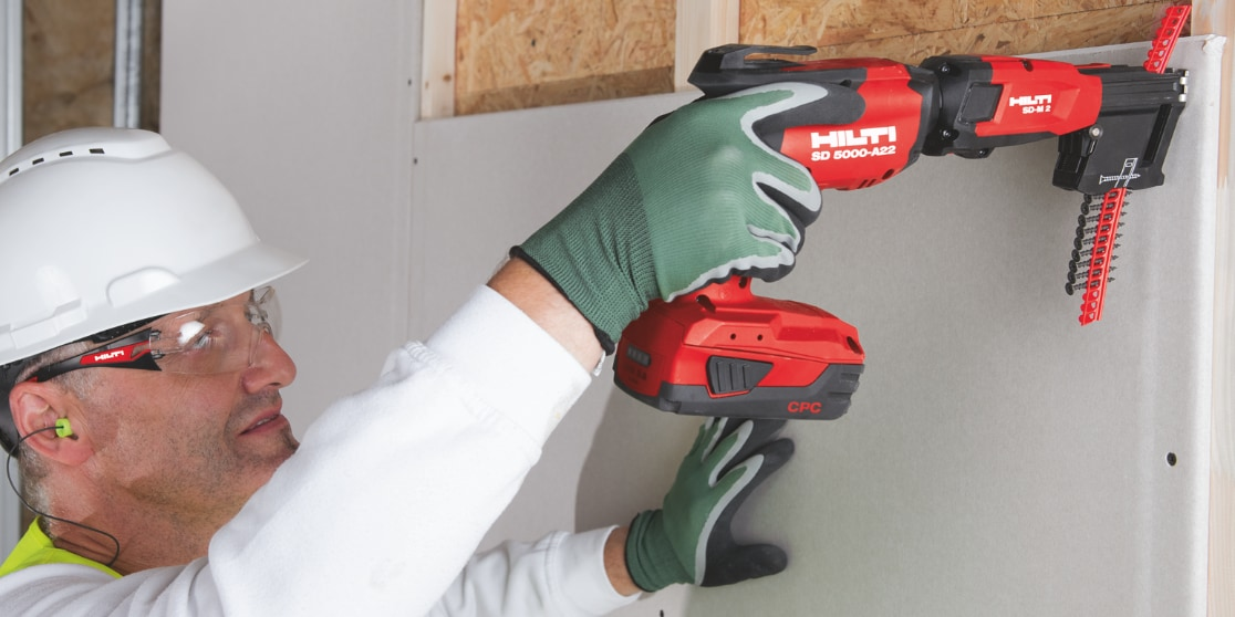 Our new SD 5000-A22 cordless drywall screwdriver features a brushless motor