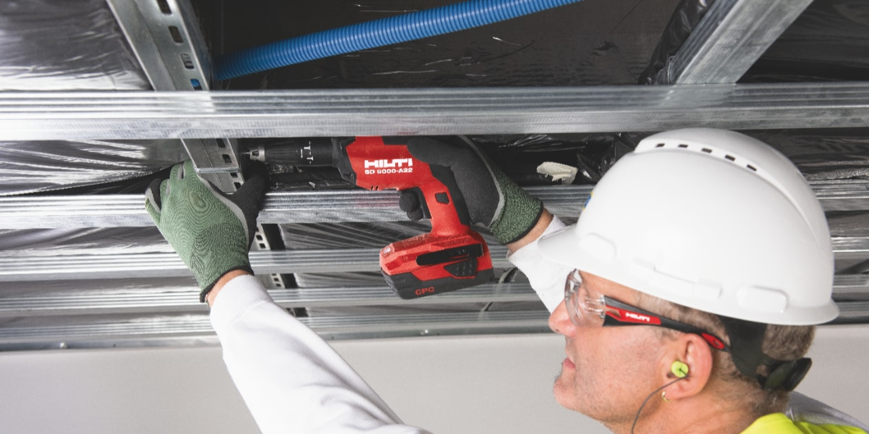 Our new SD 5000-A22 cordless drywall screwdriver features an LED light for better visibility