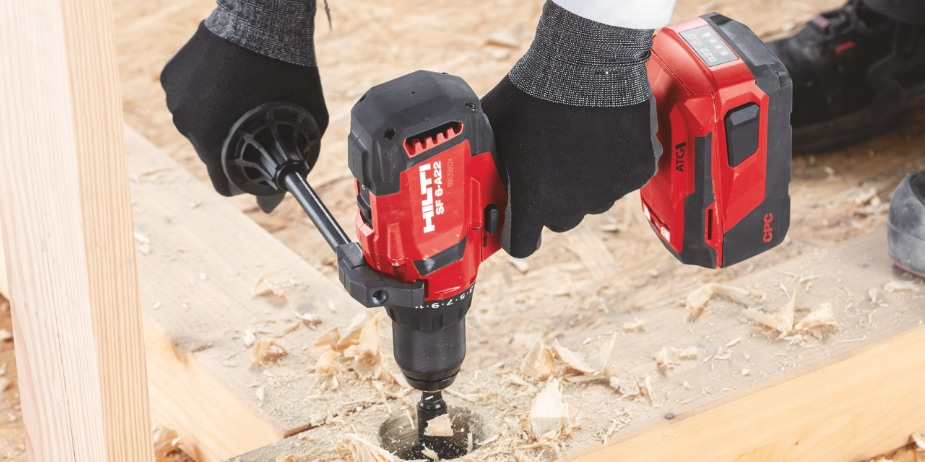 The SF 6-A22 and SF 6H-A22 is compatible with the full range of 22V tools